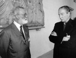 Eugenio Scalfari e il cardinale Carlo Maria Martini.