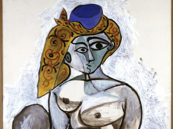 Pablo Picasso, Nudo con berretto turco, 1955